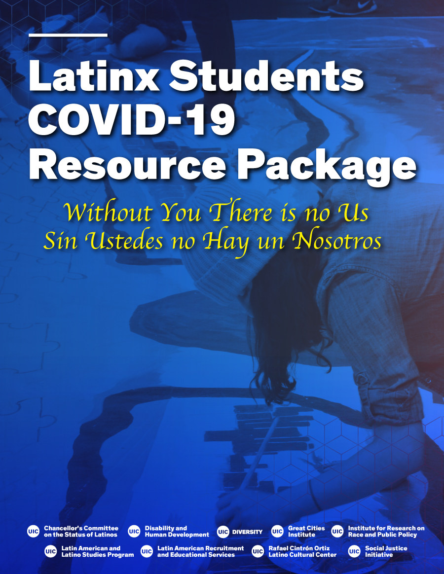 Latinx Students Covid-19 Resource package. Pair of students painting a mural