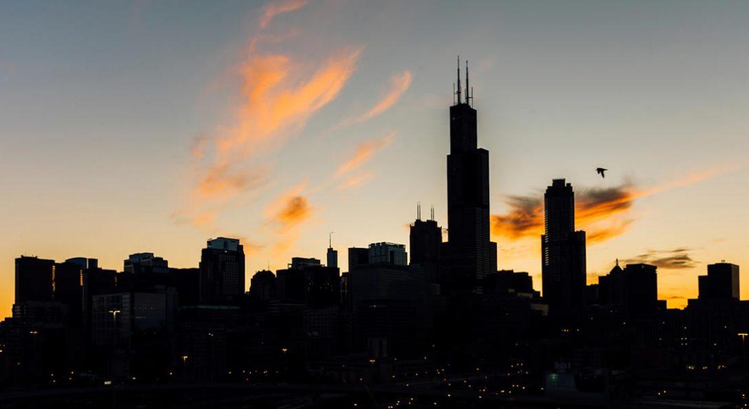 UIC and Chicago skyline