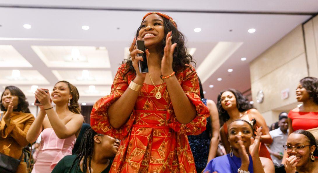 Students at Black History Month celebration