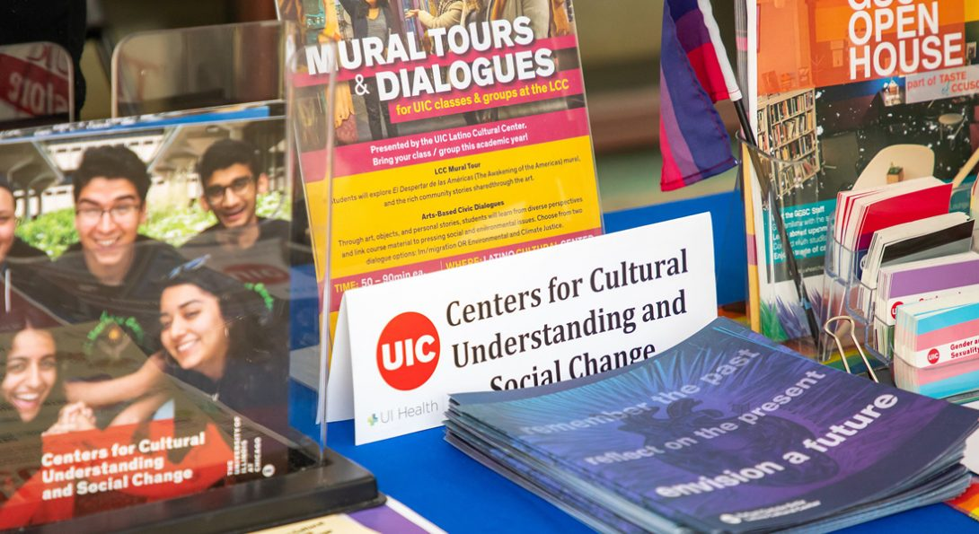 Centers for Cultural Understanding and Social Change display booth