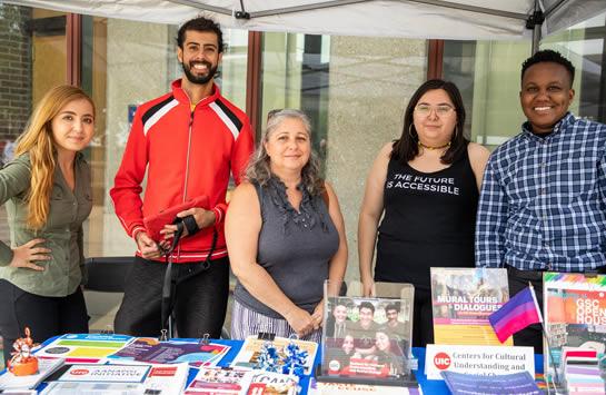 Cultural Center staff at Involvement Fair 2019