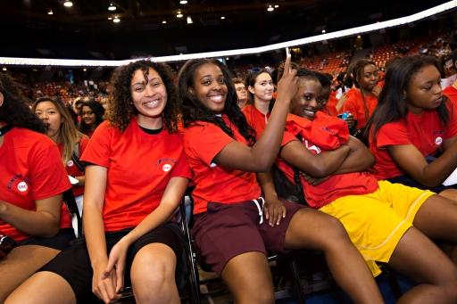 black students at convocation