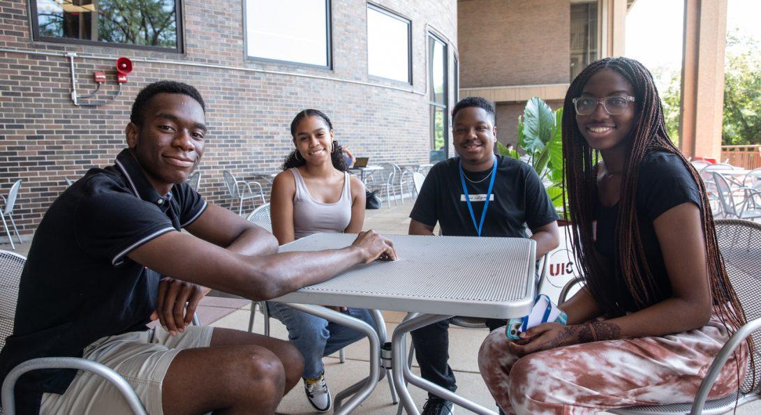 DuSable Scholars Program students in conversation