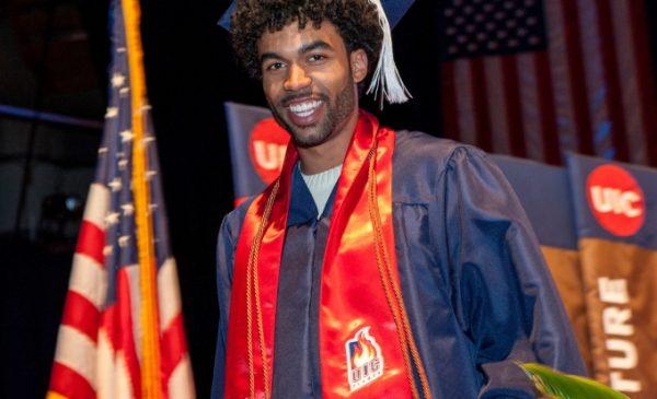 black graduate at graduation