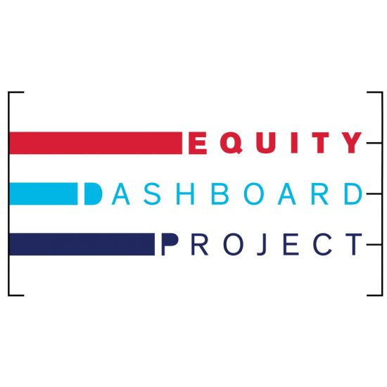 Equity Dashboard Project logo. It has three bars, resembling a bar graph, of different lengths all enclosed a bracket.
